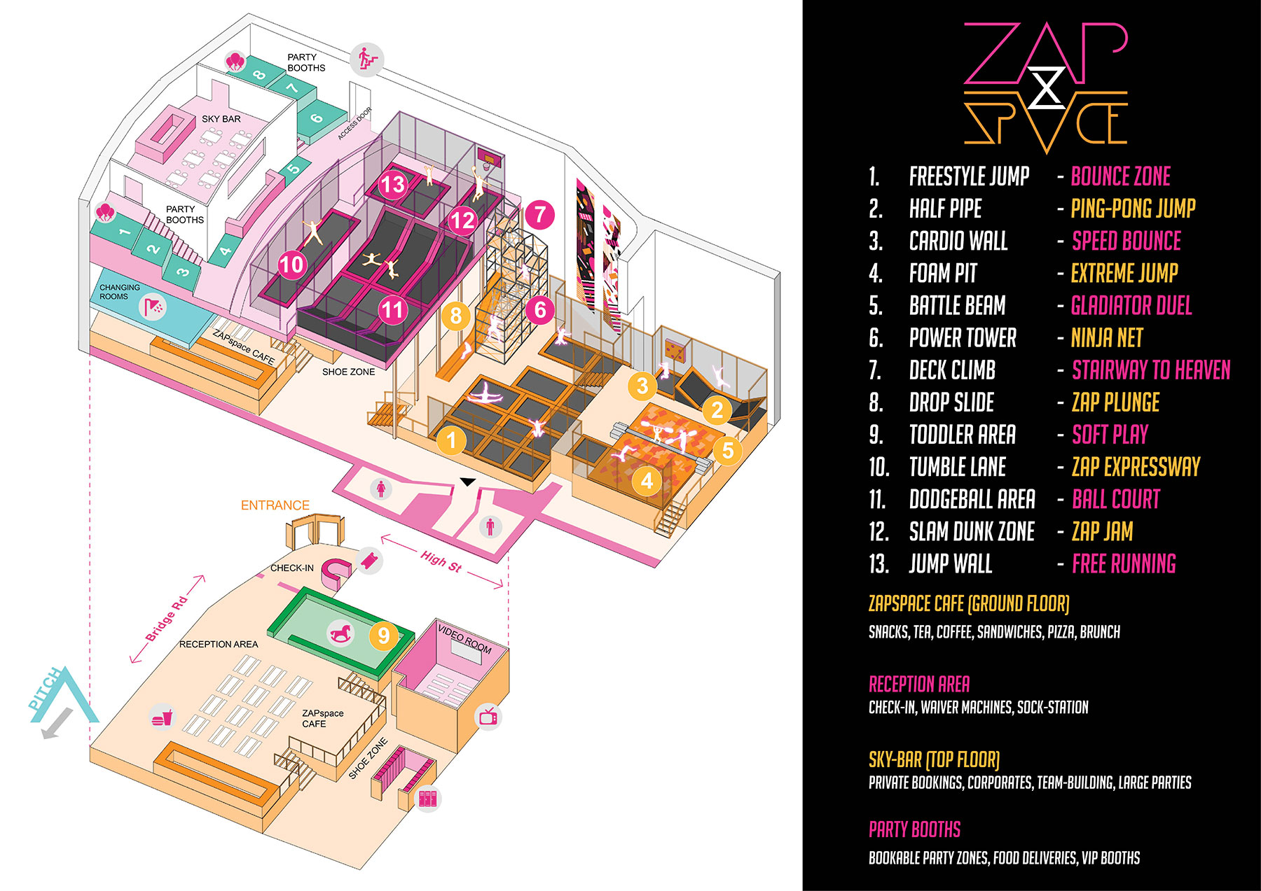 ZAPspace Venue Map